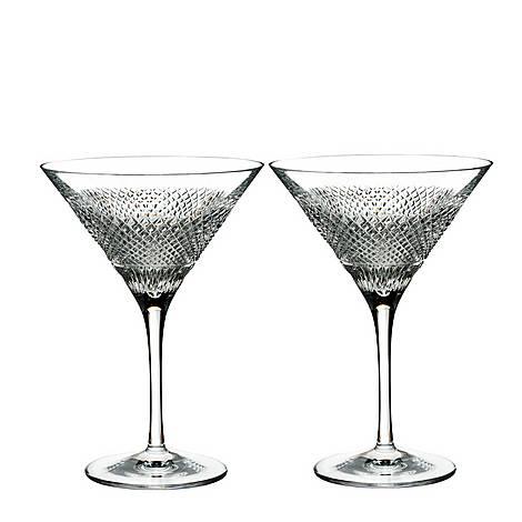 Diamond Line Martini Glasses, ${color}