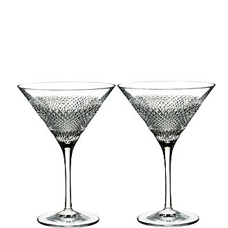 Diamond Line Martini Glasses