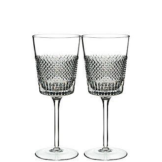 Diamond Line Wine Glasses