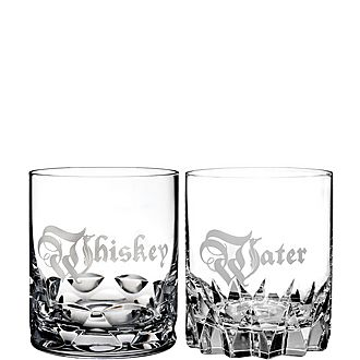 Short Stories Whiskey & Water Double Old Fashioned Glasses