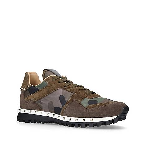 Rockstud Camouflage Trainers, ${color}