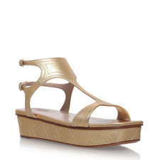 Topstitch Platform Sandals