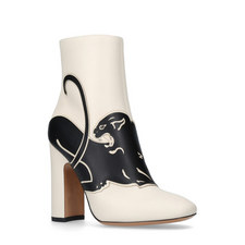 Panther Appliqué Ankle Boots