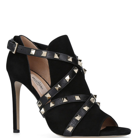 Peep Toe Rockstud Bootie, ${color}