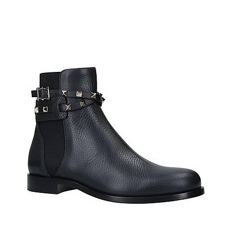 Rockstud Strap Ankle Boots, ${color}