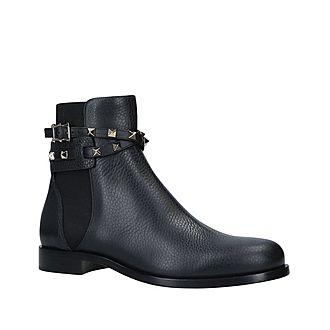 Rockstud Strap Ankle Boots
