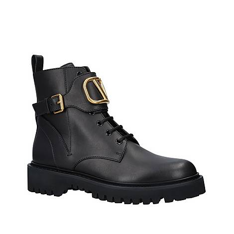 V Buckle Combat Boots, ${color}