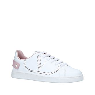 Perforated V Low-Top Trainers