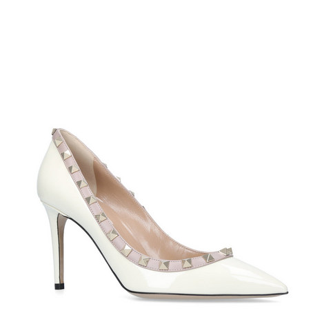 Rockstud 85 Leather Pumps, ${color}