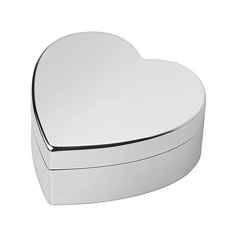 Sterling Silver Heart Trinket Box, ${color}