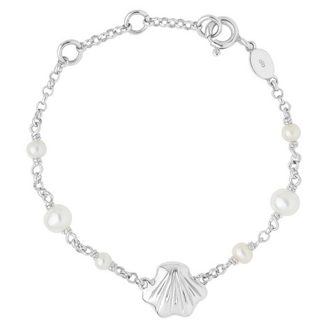 Sterling Silver Shell Baby ID Bracelet, ${color}