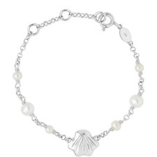Sterling Silver Shell Baby ID Bracelet