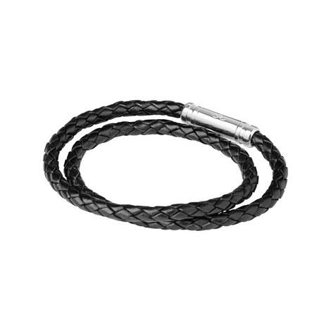 Venture Double Woven Leather Bracelet, ${color}