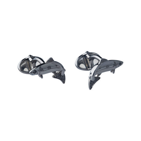 Black Diamond Salmon Cufflinks, ${color}