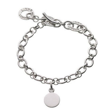 Sterling Silver Disc Charm Baby Bracelet, ${color}