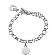 Sterling Silver Disc Charm Baby Bracelet