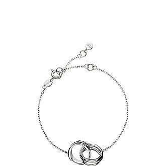Sterling Silver Interlocking Bracelet