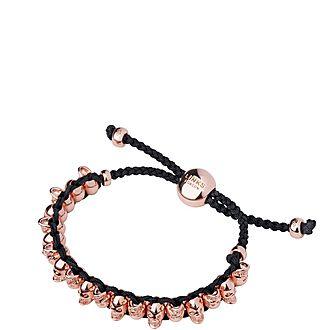 Two-Tone Skull Friendship Bracelet