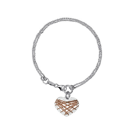 Bi-Metal Heart Dreamcatcher Bracelet, ${color}