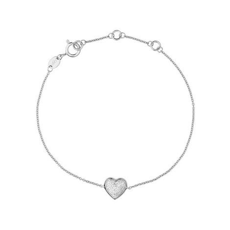 Diamond Essentials Crystal Heart Bracelet, ${color}