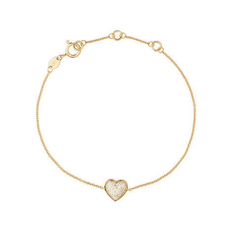 Diamond Essentials Pavé Loveheart Bracelet, ${color}