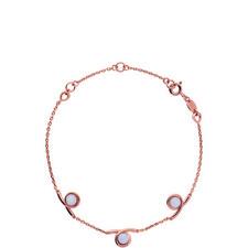 Serpentine Agate Chain Bracelet