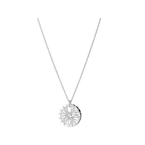 Sterling Silver Dreamcatcher Necklace, ${color}
