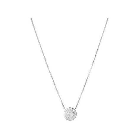 Diamond Essentials Round Pave Necklace, ${color}