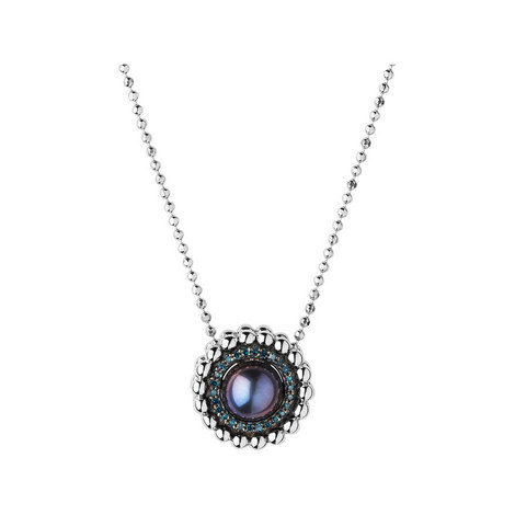 Effervescence Pearl Diamond Necklace, ${color}