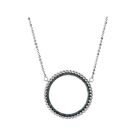 Effervescence Diamond Halo Necklace, ${color}