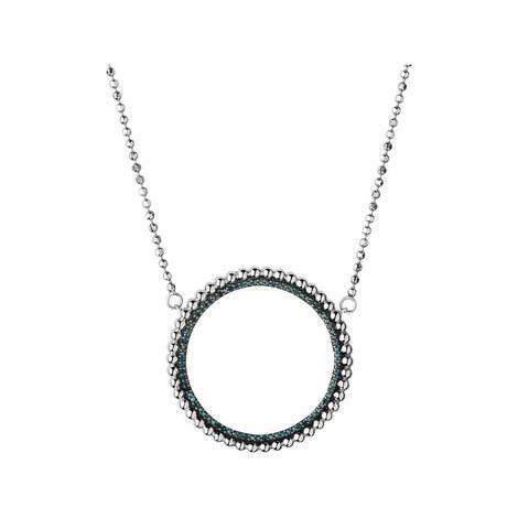 Effervescence Diamond Halo Necklace, ${color}