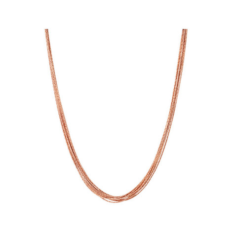 Essentials Silk Row Necklace 45cm, ${color}