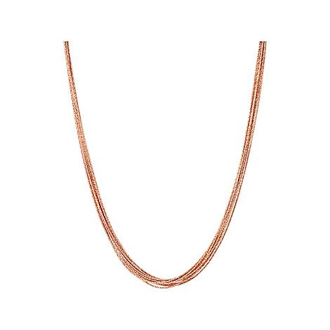 Essentials Silk Row Necklace 45cm, ${color}