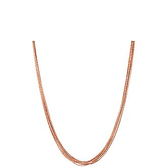 Essentials Silk Row Necklace 45cm