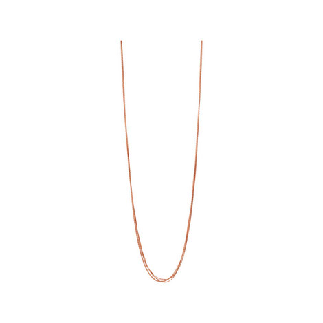 Essentials Silk 5 Row Necklace 80cm, ${color}
