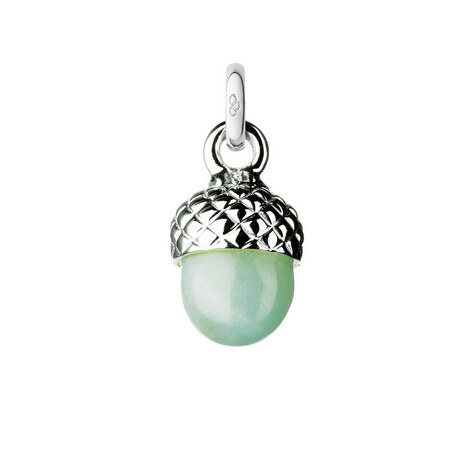 Amazonite Acorn Charm, ${color}