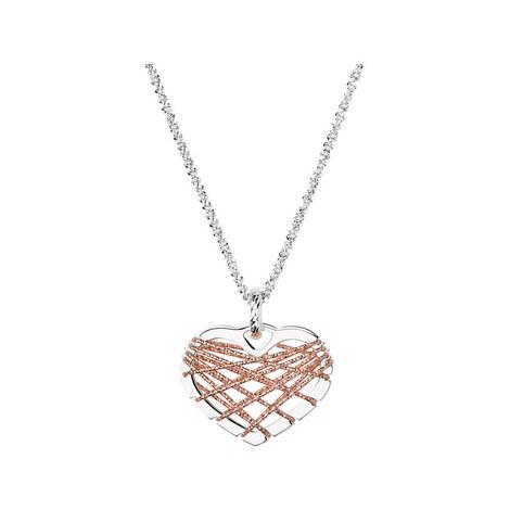 Bi-Metal Dreamcatcher Heart Necklace, ${color}