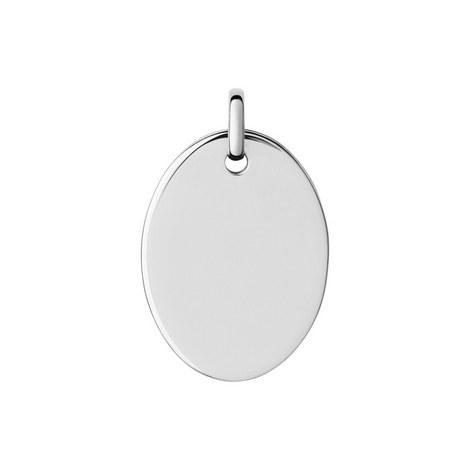 Narrative Oval Disc Pendant Large, ${color}