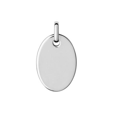 Narrative Oval Disc Pendant Small, ${color}