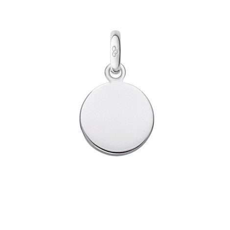 Sterling Silver Disc Charm, ${color}