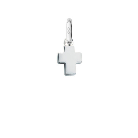 Sterling Silver Short Cross Charm, ${color}