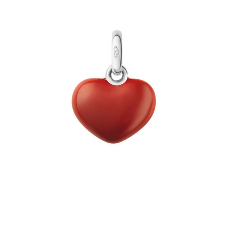 Sterling Silver Red Heart Charm, ${color}