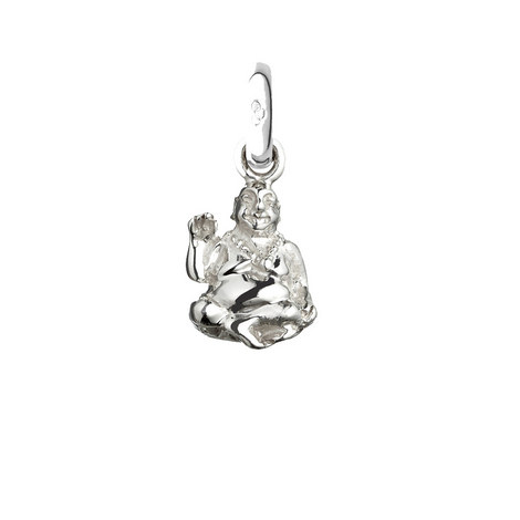 Sterling Silver Laughing Buddha Charm, ${color}