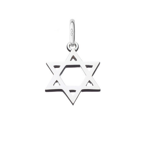 Sterling Silver star of David Charm, ${color}