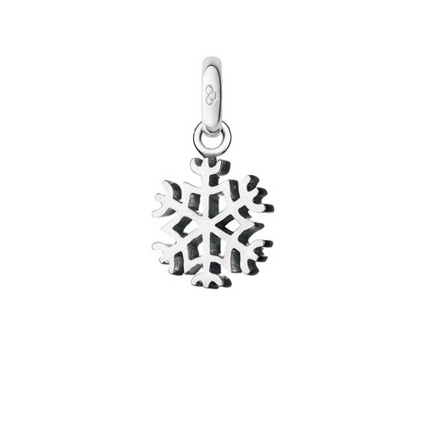 Sterling Silver Snowflake Charm, ${color}