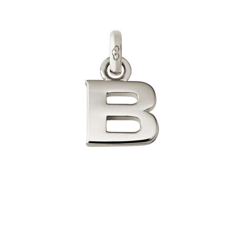 Sterling Silver 'B' Charm, ${color}