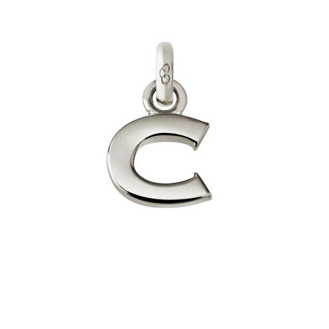 Sterling Silver 'C' Charm, ${color}