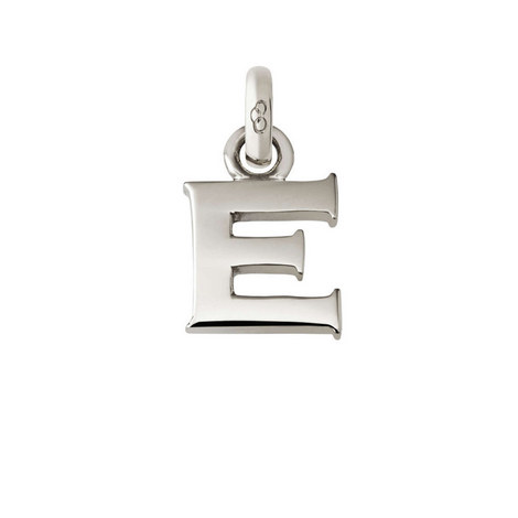 Sterling Silver 'E' Charm, ${color}