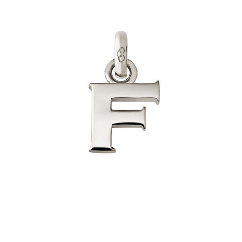 Sterling Silver 'F' Charm, ${color}