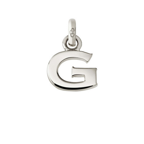 Sterling Silver 'G' Charm, ${color}